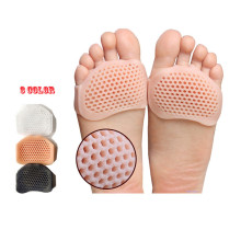 Gel Insoles Forefoot Pads for Women High Heel Shoes Foot Blister Care Toes Insert Pad Silicone  Insole Pain Relief Dropshipping цена 2017