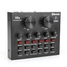 Carte son externe professionnelle, Interface Audio pour ordinateur, enregistrement en direct, mélangeur de son DJ, changeur de voix de téléphone avec Bluetooth