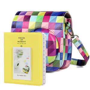 Image 3 - New Fujifilm Instax Mini 9 Yellow Camera Accessories Bundle Kit Shoulder Bag Case Photo Album Film Frame Filters Selfie Lens Set
