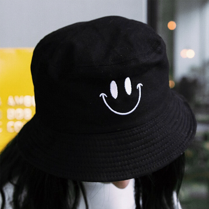 Unisex Fisherman Embroidered Men And Woman Hat Foldable Bucket Hat Beach Sun Hat Street Headwear  Outdoor Cap