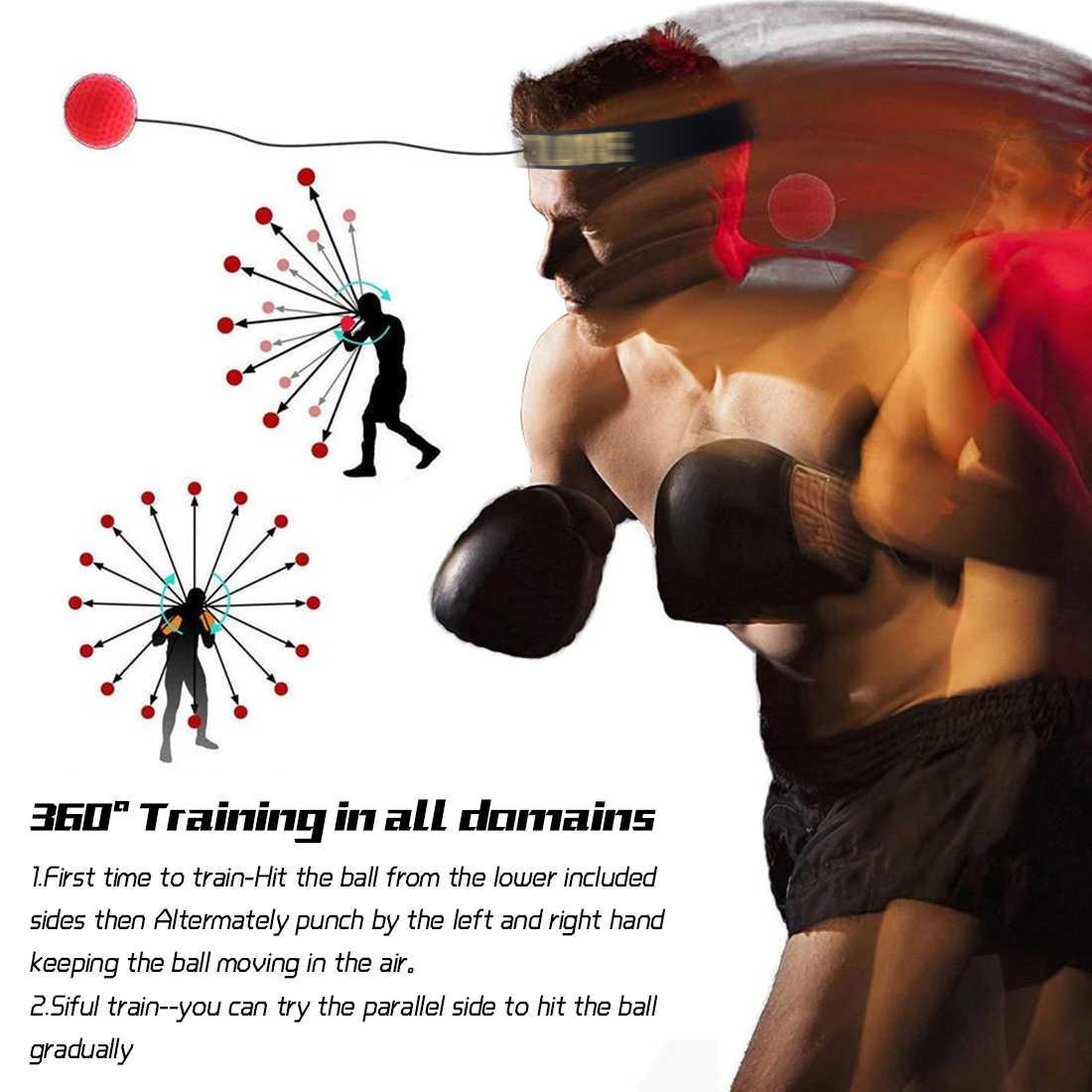 Boksen Reflex Bal Snelheid Met Verstelbare Hoofdband Hoofd Gemonteerde Boksen Reactie Training Bal Fitness Apparatuur