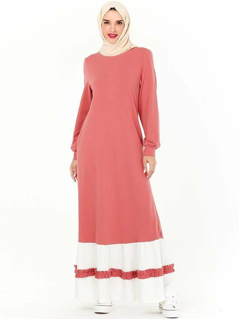 Islamic Abaya Women Patchwork Kaftan Long Muslim Dress Maxi Loose Cocktail Robe