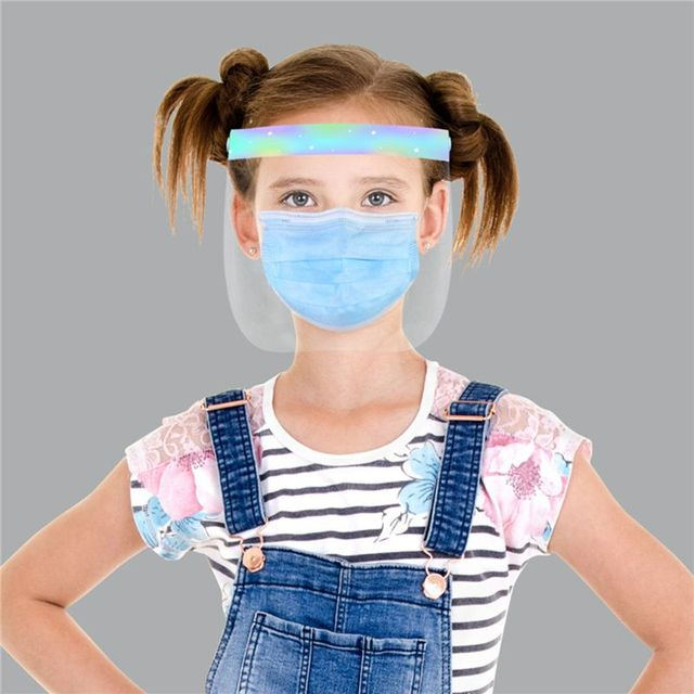 Child Transparent Protect Mask Protective Adjustable Anti-saliva Dust-proof Full Face Cover Children Mask Visor Shield 4