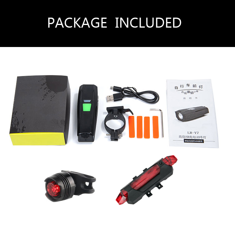 Купить с кэшбэком JoShock Bicycle Light 10000 LM 5Modes T6 LED Cycling Front USB Flashlight Waterproof Lamp By 18650 Battery With Taillight