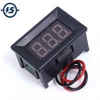 Temperature Sensor Red Mini Electronic Thermometer Meter Detector Red LED Digital Display NTC Metal Waterproof DC4-28V 0.36 Inch