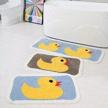 Flocking Simple Household Kitchen Bathroom Door Water Non-slip Mats Bedroom Living Room Carpet Mats
