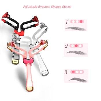2019 adjustable eyebrow Stencil Eyebrow mold Eyebrow template DIY eyebrow shapes Eyebrows Card Woman Eyes Makeup Beauty tool