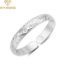 XIYANIKE-pulsera de plata de primera ley para mujer, brazalete, plata esterlina 925, estilo elegante, fiesta