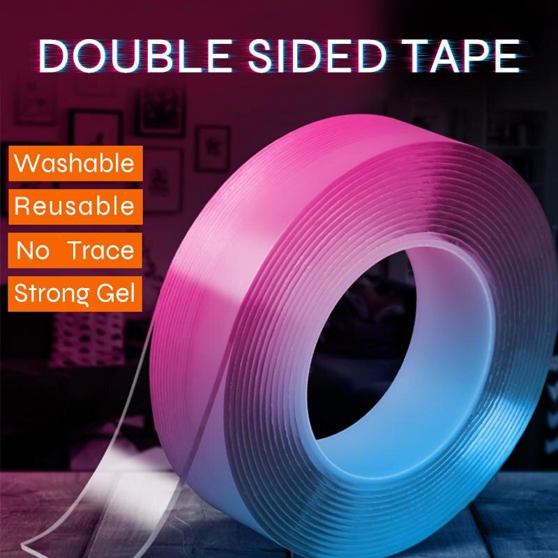 Magic-Tape Transparent Nano Waterproof Reusable Home No-Trace X3cm 3M/5M