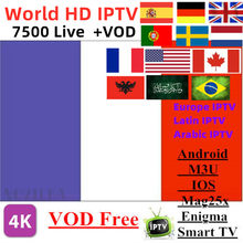Europe IPTV Subscription Arabic France UK German EXYU Dutch Sweden French Poland Portugal Spain Smart TV IPTV M3U 7500 Live(China)