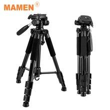 MAMEN Foldable Tripod Professional Portable Travel Aluminium Camera Tripod Accessories Stand with Pan Head for Canon Dslr Camera