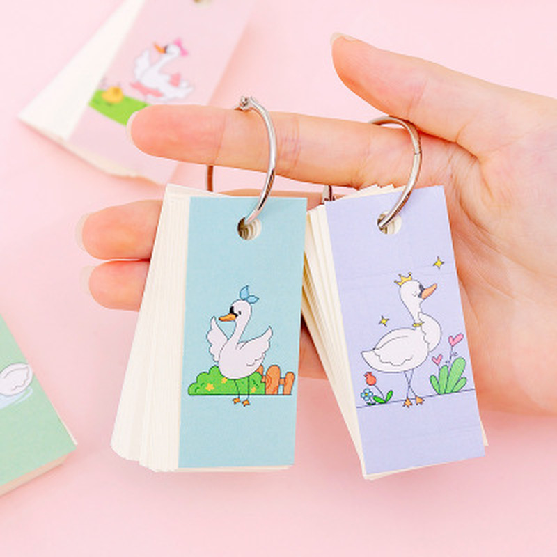 1pcs Swan Mini Memo Pad Kawaii Stationery Student Cute Planners Notebook Novelty Notebooks Schedule Book Kawaii School Supplies