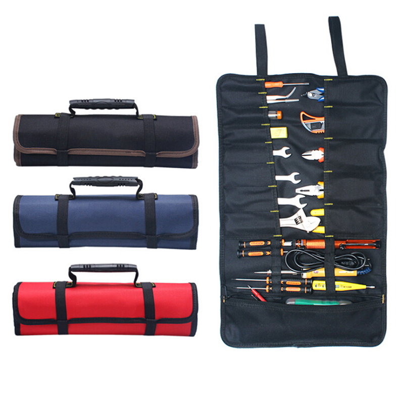 1pcs Multifunction Tool Bag Practical Carrying Handles Oxford Canvas Chisel Roll Bags