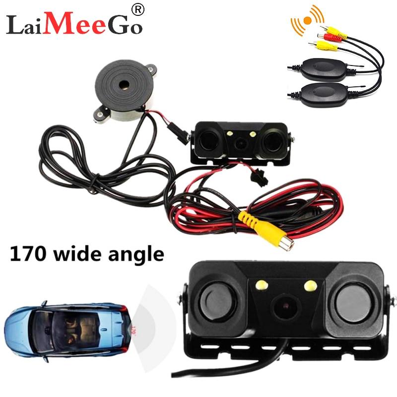 Driving Cyclic Recorder Car Vehicle Camera 3 In 1 Car Rear View Reverse Parking Sensor Detector Buzzer Alarm Car Dash Camera