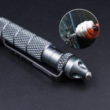 1 peça de metal antiderrapante esferográfica canetas criativas canetas bola multifuncional para presentes meninos novidade tático proteger ferramentas
