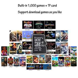 Image 5 - O mini portátil retro consola de jogos handheld 64 bit 3.0 Polegada cores lcd caçoa o jogador do jogo da cor construído em 1000 jogos com cartão do sd