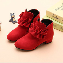 купить Children Kids Boots Girls Princess Shoes Girls Boots Wedding and Party Dress Shoes Pink Red Black 4 5 6 7 8 9 10 11 12 13 14T по цене 989.34 рублей