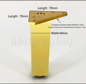 Image 4 - 4pcs Metal Furniture Legs Brushed Gold 6 8 10 12 15 18 20CM for TV Cabinet Bathroom Cupboard coffee table Dresser Armchair feet