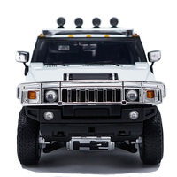 1:18 H2 SUV Highway 61 Alloy Car Model Diecast Children Metal Vehicle Toy Metal Souvenir Collect Kids Boys Gift Display Decorate