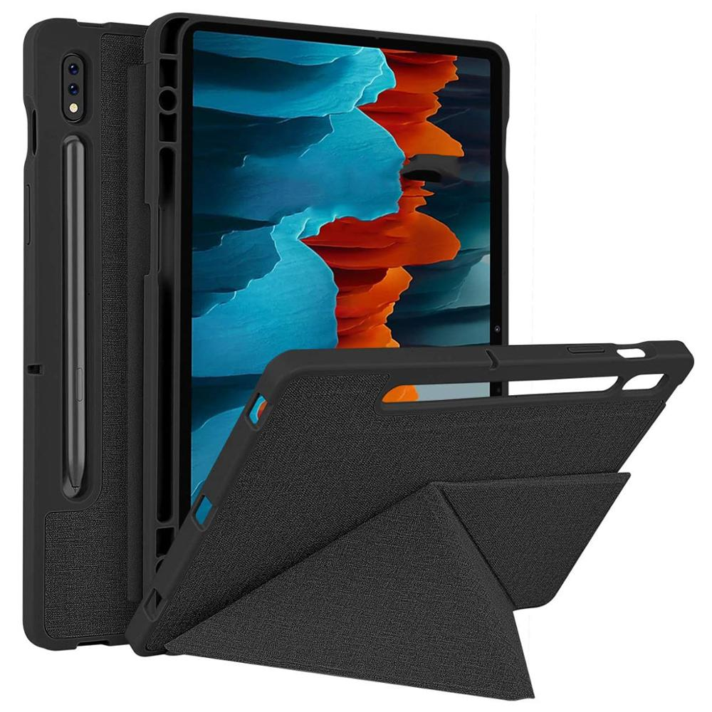 Case for Samsung Galaxy Tab S7 Plus 12.4 inch Tablet,Stand Cover for Samsung Galaxy Tab S7 SM-T870/T875, with Pencil Holder