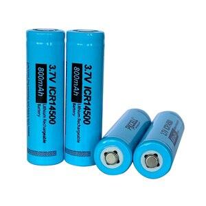 Image 5 - PKCELL ICR14500 14500 800mAh 3.7V akumulator bateria litowo jonowa led lampe de poche Batterie płasko zakończony
