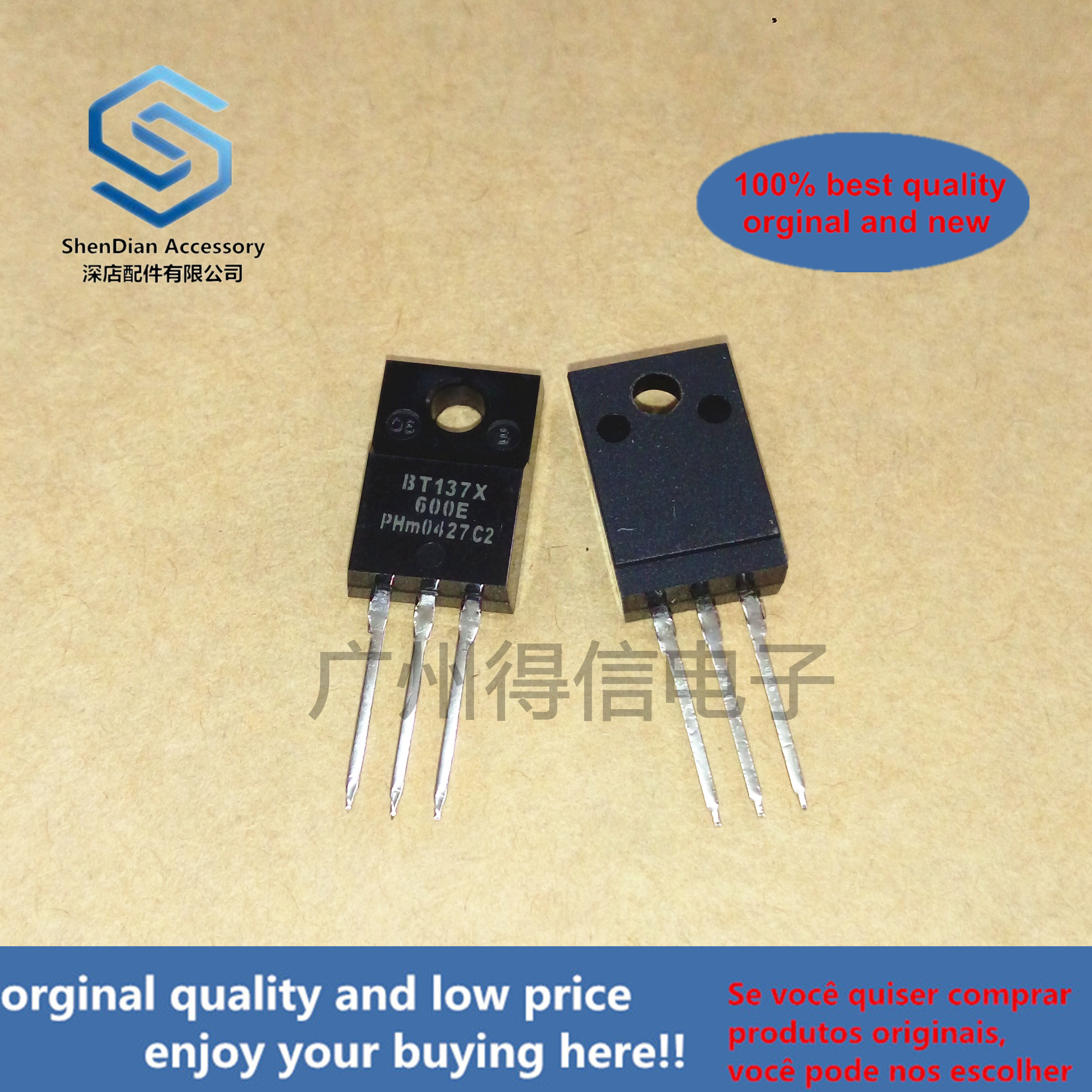 10pcs 100% Orginal New  BT137X-600E TO-220F Real Photo