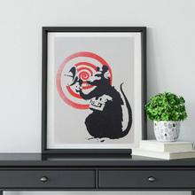 Rat Radar Street Graffiti Wall Art Canvas Poster and Print Painting Oil Decorative Picture Living Room Home Decor Artwork