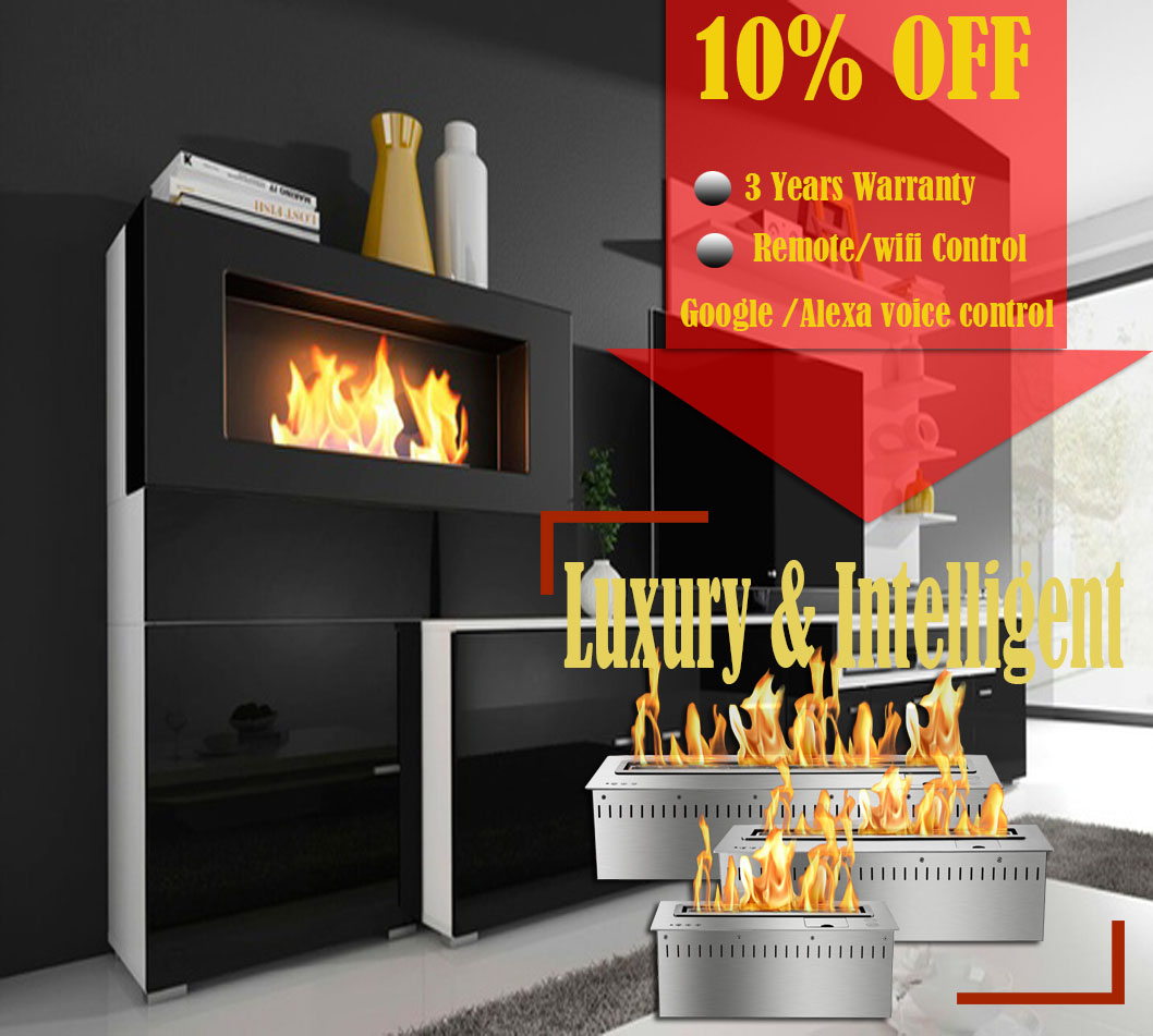 Inno-living Fire 36 Inch Fireplace Hanging Bio Ethanol Fuel  Wall Fireplace