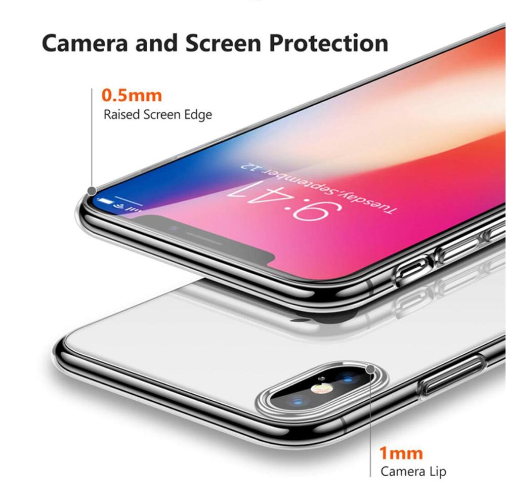 0 5 Fitted Case For iphone xr case Capinhas Ultra Thin Slim Soft Cover Case For iphone x case iphone 7 case iphone 8 case 6 6P in Fitted Cases from Cellphones Telecommunications