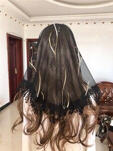 Image 2 - Frauen Katholischen Schleier Headwrap Jerusalem Muslimischen Elegante Schal Schal Kirche Kapelle Voiles Dentelle Velas Negra Mantillas Schwarz