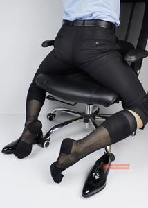 Носки с усиленным голенищем, официальные носки, короткие носки, длинные носки, модные мужские носки, Колготки с узором в виде ромбовидной се...