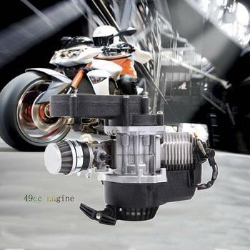 Samger 49cc Motor de bicicleta de bolsillo de 2 tiempos Motor de motocicleta Mini Motor completo para moto de cross ATV Quad