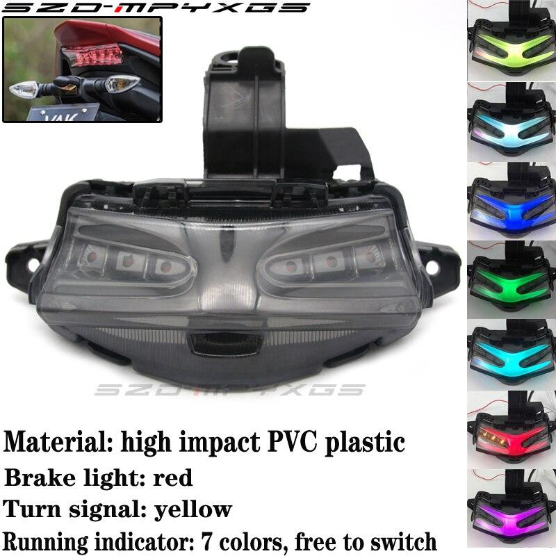 High quality tail light for YAMAHA NVX155 AEROX155 motorcycle LED colorful brake turn signal stop flash