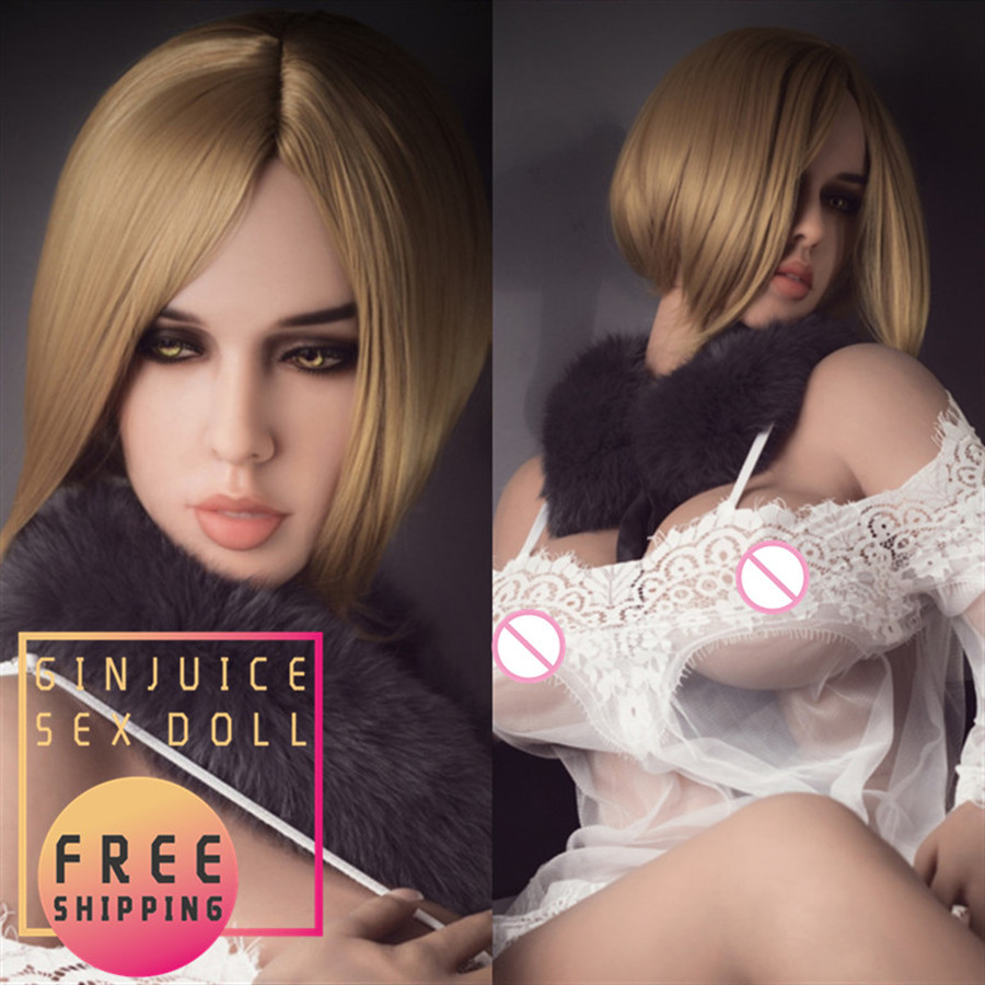 163cm (5.35ft) Real Life Size TPE <font><b>Sex</b></font> Doll for Men Big Bust <font><b>Fat</b></font> Ass Blonde Girl Vagina Pussy Anal Oral <font><b>Sex</b></font> <font><b>Toy</b></font> Love Top Quality image