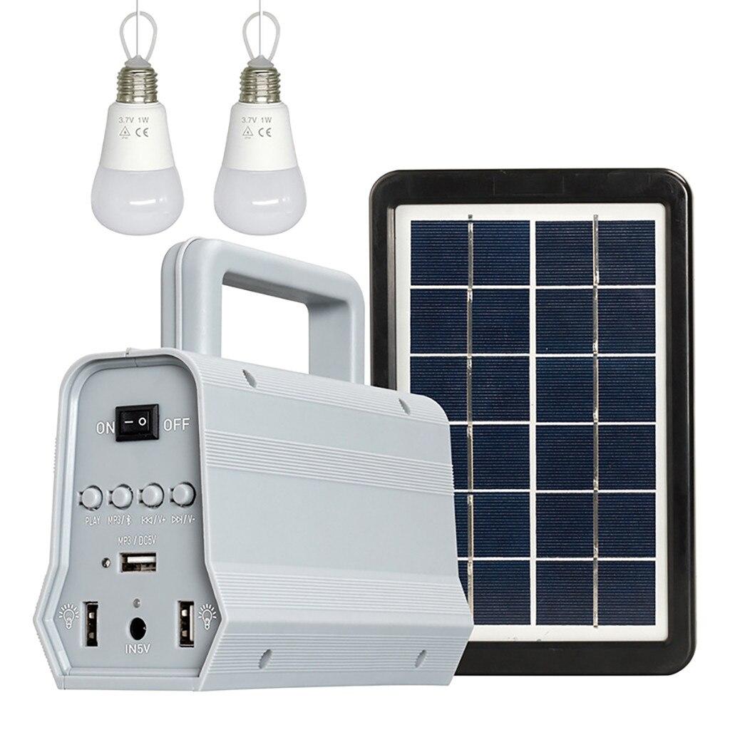 5 V 3 W Polysilicon Solar Panel Off Grid Multifungsi Tenaga Surya Sistem Pencahayaan Energi Surya Sistem Speaker Rumah Tangga Bohlam Sistem Aliexpress