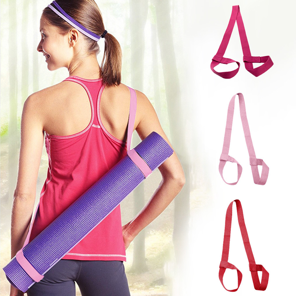Yoga Mat Straps with Yoga Straps Exercise Mat Straps Rope Two-way Elastic Fitness Gym equipment Portable Exercise Accessories
