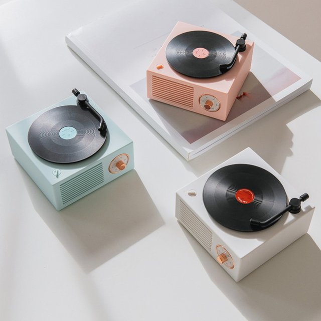 Mini Steel Retro Atomic Speaker Radio Cassette Recorder 2