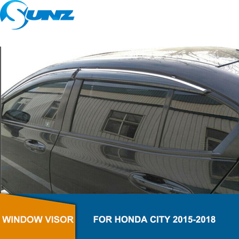 Side window deflectors For Honda City 2015 2016 2017 2018 Car door visor protector car rain guard accessories Car Styling SUNZ