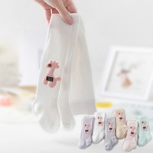10pcs wholesale Mesh Breath Candy Color Baby Summer Tights Baby Toddler Kids Ribbed Stock Cotton Pantyhose Solid Tight 0-4s Girl
