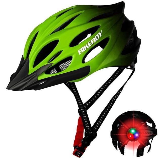 Unisex ciclismo capacete com luz bicicleta ultraleve capacete intergrally-moldado mountain road bicicleta mtb capacete seguro das mulheres dos homens 3