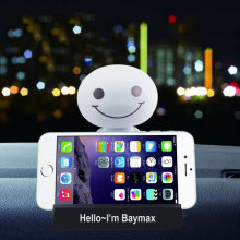 Schütteln Kopf Puppe Auto Ornamente Roboter Big Hero Schütteln Spielzeug Baymax Auto Stil Dekoration Cartoon Kunststoff Abbildung Ornament telefon basis(China)