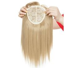 14 дюймов прямые волосы синтетические светлые волосы с челкой для женщин клип-в один кусок наращивание волос высокотемпературное волокно