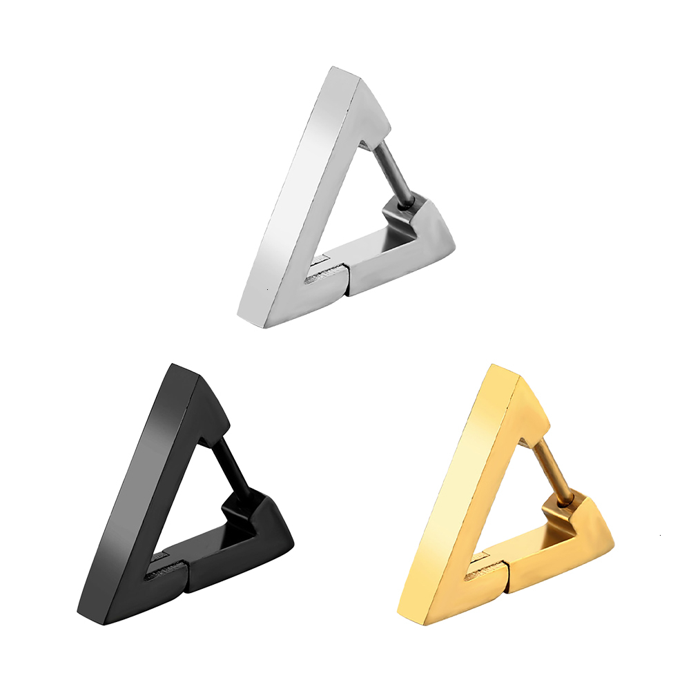 1pc Cool Punk Style <font><b>Earrings</b></font> <font><b>For</b></font> Women <font><b>Men</b></font> Titanium Steel Triangle Stud <font><b>Earring</b></font> Statement Jewelry Piercing Ear Stud Gothic image