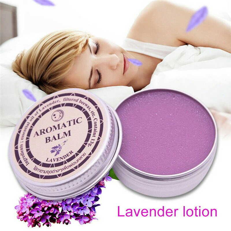Crema sin dormir de lavanda para relajar la hidratación bálsamo aromático para mejorar el sueño calma el estado de ánimo masaje corporal Spa aceite esencial