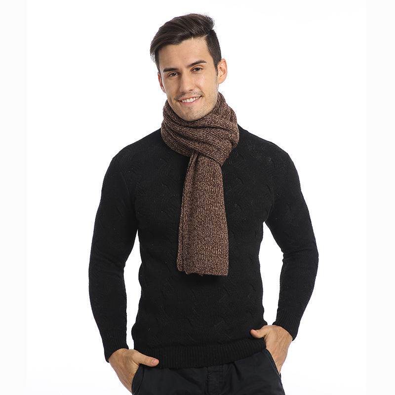 2019 Autumn & Winter MEN'S Scarf Korean-style Long Warm Cross Border Europe And America Amazon New Style Scarf Manufacturers