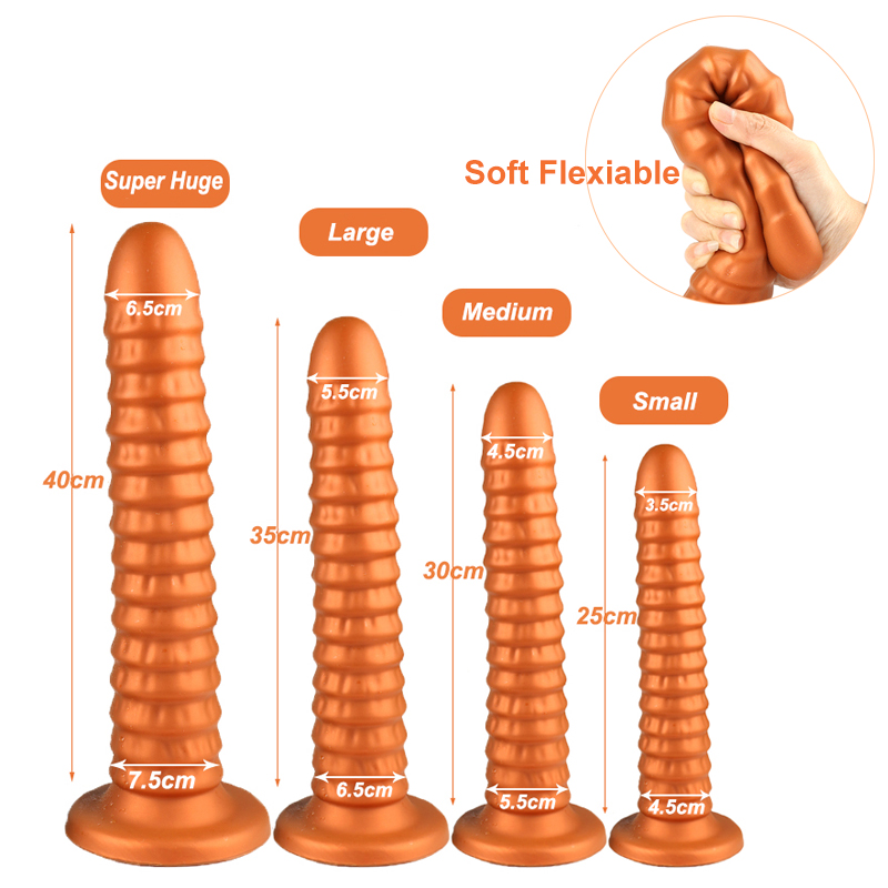 Huge Long Silicone Anal Sex Toys For Women Men  Anal Butt Plug With Suction Cup Anus Expander Stimulator Large Anal Dilator SM