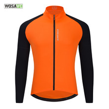 WOSAWE-Camiseta de ciclismo para hombre, ropa para correr, de manga larga, para deportes al aire libre, jerséis de gimnasia transpirables, otoño