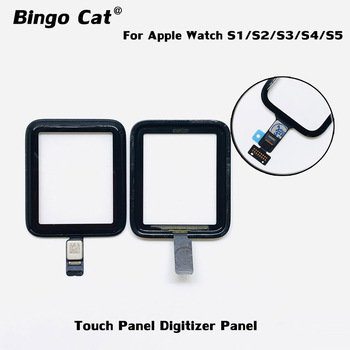 100% Brand New Digitizer Screen Panel For Apple Watch Series 2 3 38mm 42mm Series 4 5 40mm 44mm Damaged Front Glass Replacement image