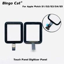 100% ใหม่Digitizerหน้าจอสำหรับApple Watch Series 2 38Mm 42Mm Series 4 5 40mm 44Mmเสียเปลี่ยนกระจกด้านหน้า