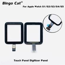 100% yepyeni dijitalleştirici ekran paneli için Apple İzle serisi 2 3 38mm 42mm serisi 4 5 40mm 44mm hasarlı ön cam değiştirme